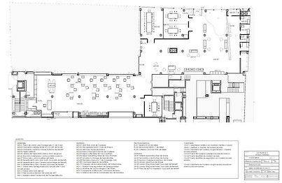 Technical drawing - Co-working space - interior design plan