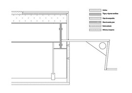 Technical drawing detail - Staircase construction detail