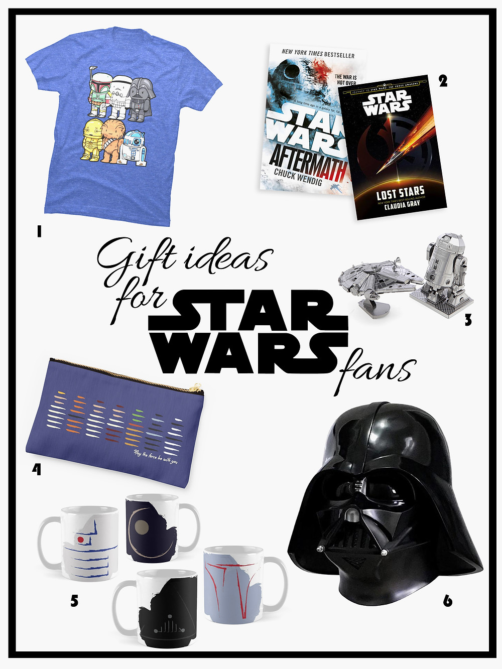 Gift list for Star Wars fans - Gathering Thoughts