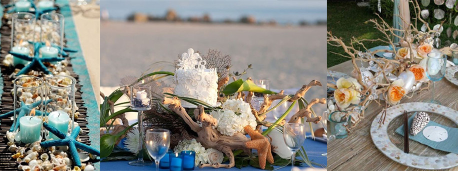 Beach centerpieces - Gathering Thoughts