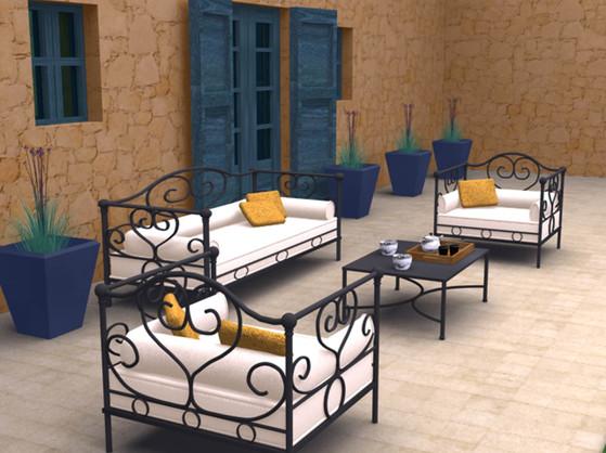 Render - Terrace interior design project