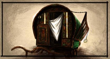 Concept illustration - Gyspy wagon design