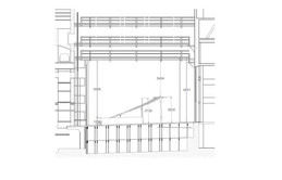 Section plan - Technical drawing - Set design project