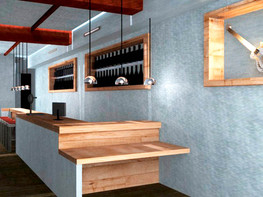 Interior design render - Commercial project - Cafeteria