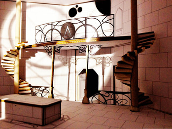 White model - set design project - The Name of the Wind