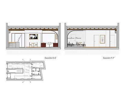 Interior elevation - interior design commercial - music club