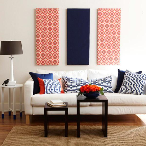 Fabric wall decor DIY