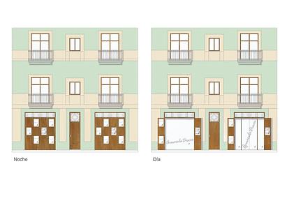 Exterior elevation - visual - Interior design commercial