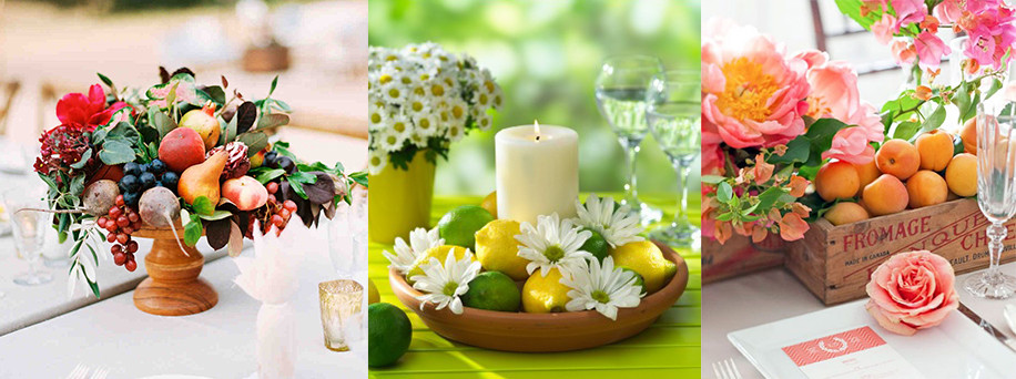 Fruits centerpieces - Gathering Thougths