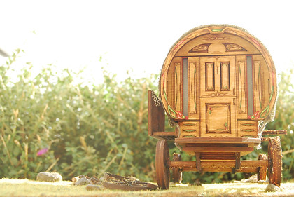 Wagon model - Gypsy caravan set design - The Name of the Wing - Master´s project
