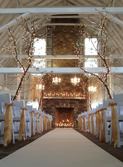 Decorate with branches - Winter wedding