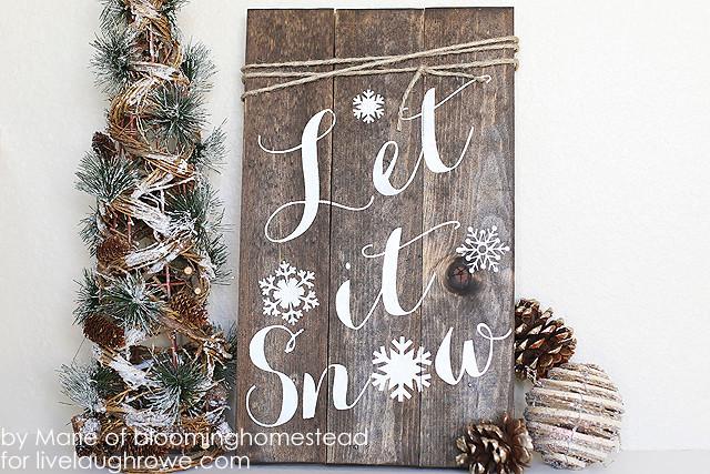 Winter DIY project - let it snow