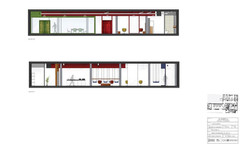 Section Elevation - Co-working space - Valencia design