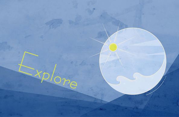 Explore the sea - minimalist design