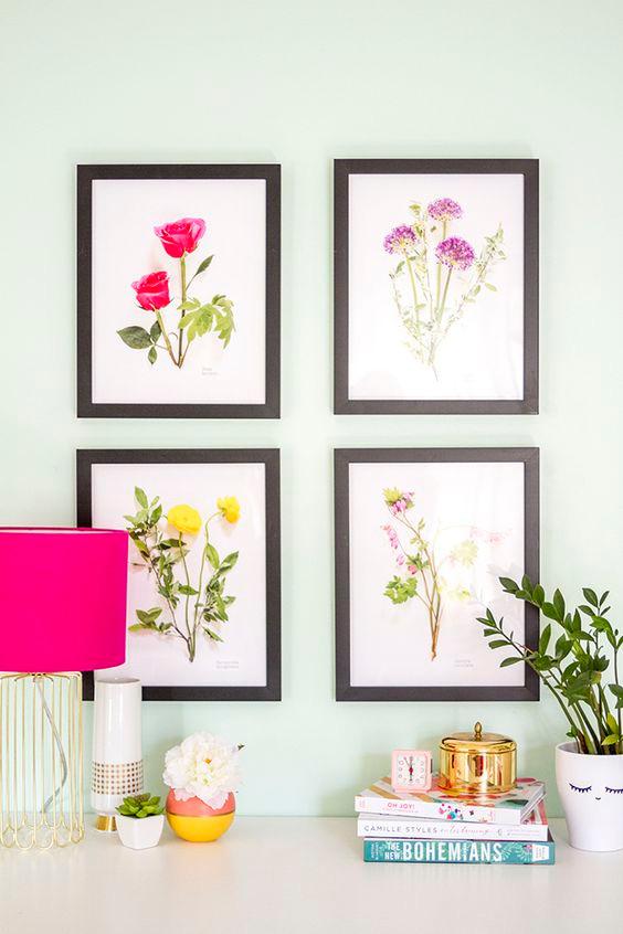 Botanic artwork - spring trends