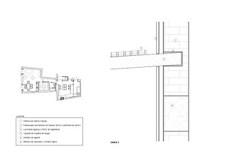 Technical drawing detail - Heritage interior design project