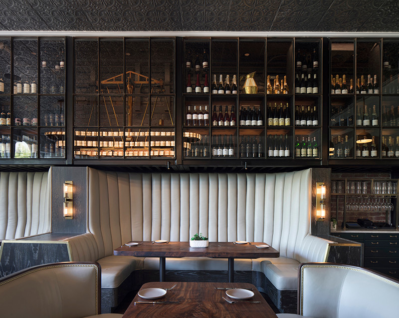 Banquettes with integrated lighting – how cool is that?