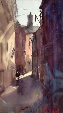 Bright Light on Pump Street, Brixham