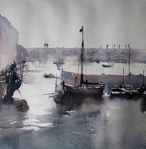 The Cobb and Harbour at Lyme Regis, Dorset, UK