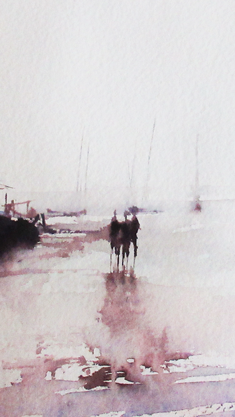 Boats And Men On The Beach