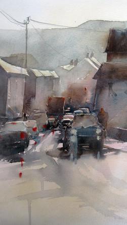 Traffic At Sidford, Devon