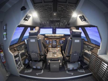 Los simuladores de vuelo mantienen a los pilotos alerta durante una pandemia