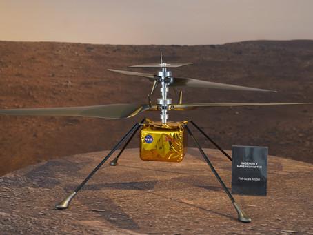 Helicóptero de la NASA sobrevive a su primera noche helada en Marte a -90ºC