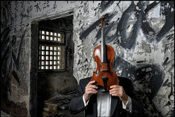 A violin face
