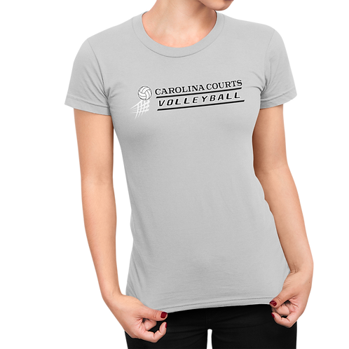 Customized Carolina Courts Volleyball Ladies T-Shirt - with player name & number