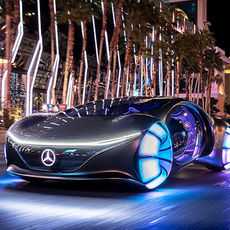 avatar-inspired mercedes-benz VISION AVTR concept car lands at CES 2020