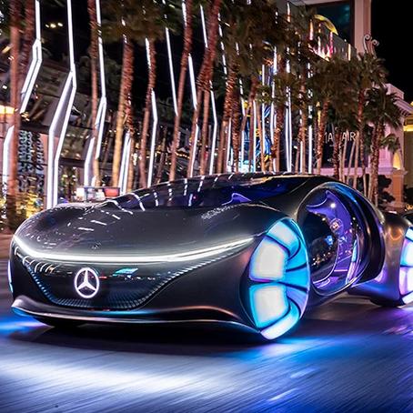 avatar-inspired mercedes-benz VISION AVTR concept car lands at CES 2020