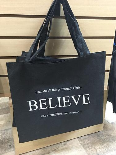 "Philippians 4:13 ""Believe"" Bag"