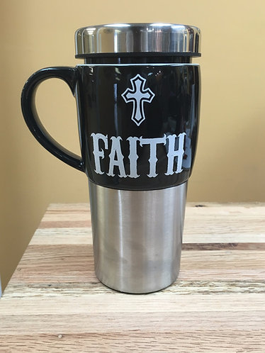 """FAITH"" 16 oz. Insulated Mug"