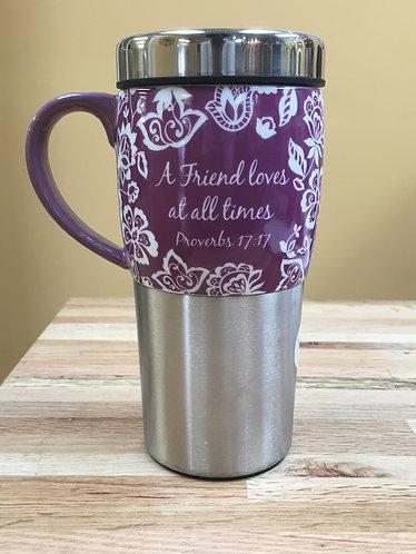 """""""Proverbs 17:7"""" 16 oz. Insulated Mug"""