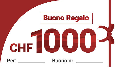 BUONO REGALO CHF 1'000