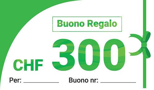 BUONO REGALO CHF 300