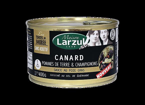 CANARD POMMES DE TERRE ET CHAMPIGNONS SAUCE FOIE GRAS - 400g