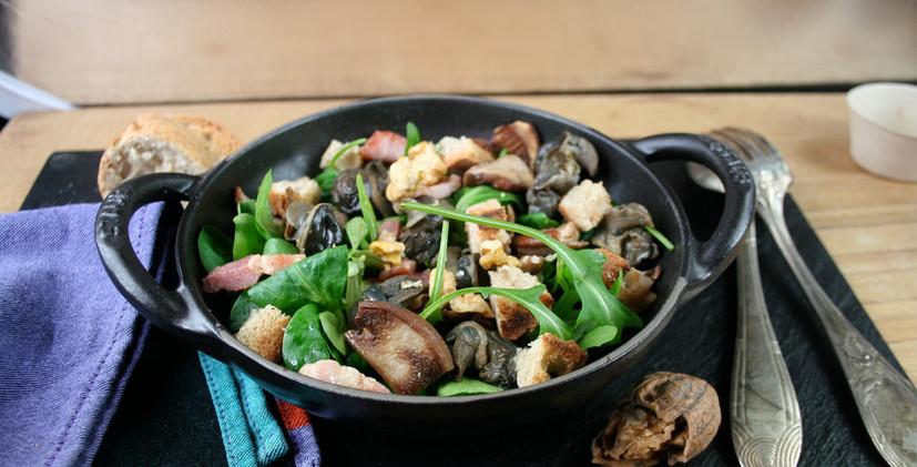 salade gourmande escargots de bourgogne.