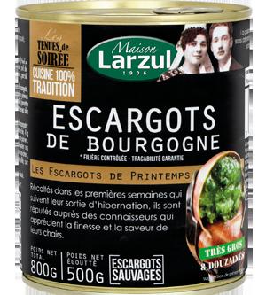 Pour faire la joie de vos convives, choisissez les escargots Maison Larzul !