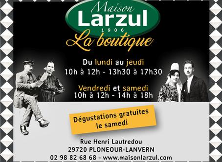 Maison Larzul, la cuisine naturelle et traditionnelle, passe aux heures d'été
