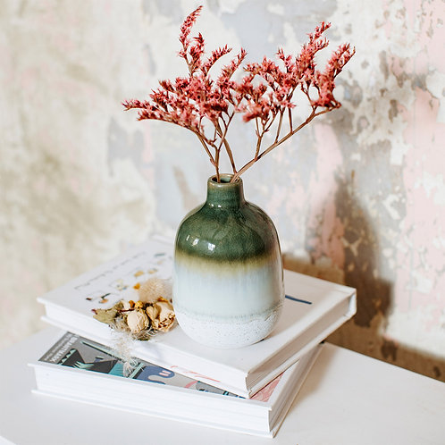 Small green ombre vase