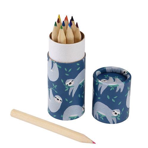 Sloth colouring pencil set