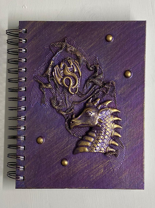 A5 Sketchbook Purple Dragon