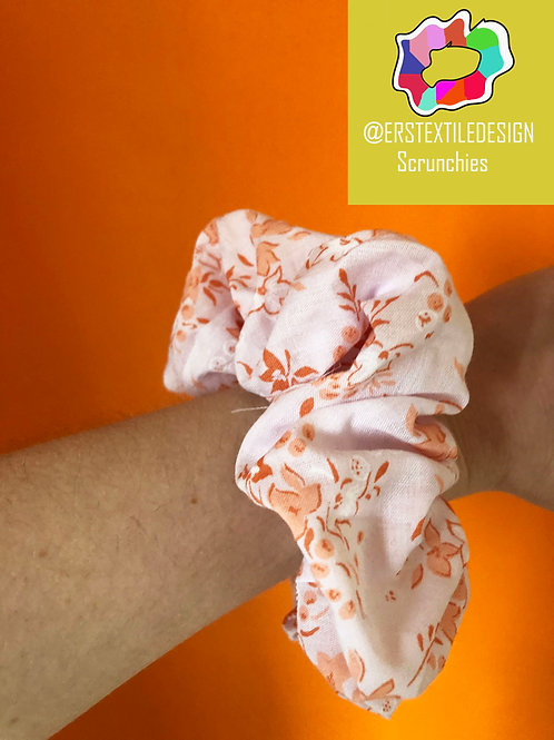 Floral Upcycled Scrunchie