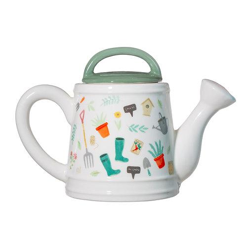 Gardeners watering teapot