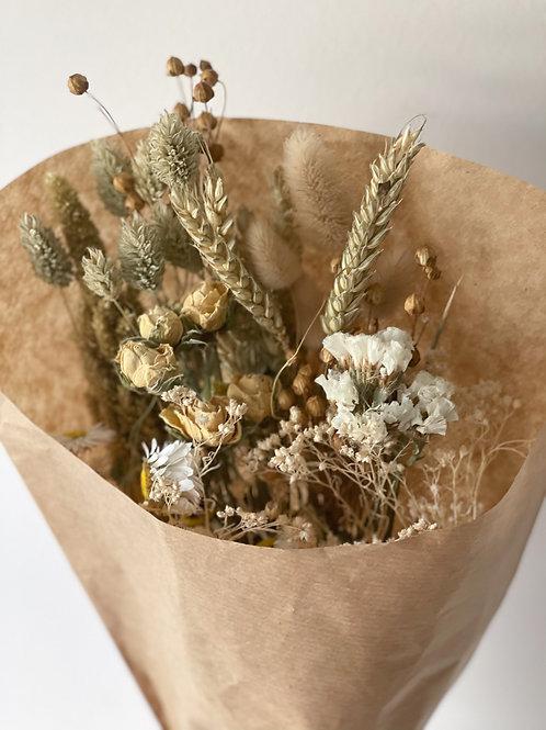 Natural dried wildflower bouquet