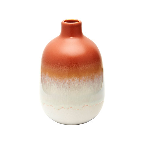 Small burnt orange ombre vase