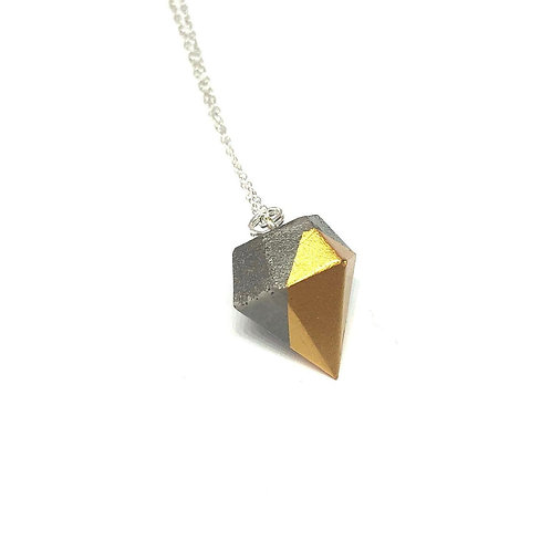 Concrete geometric necklace