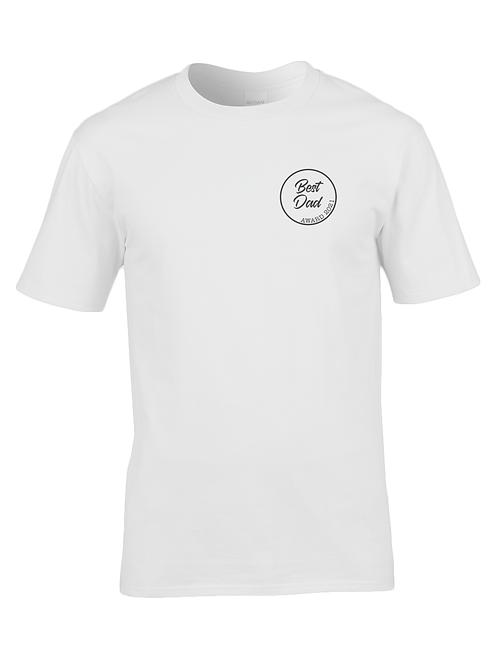 Best dad award t-shirt: White