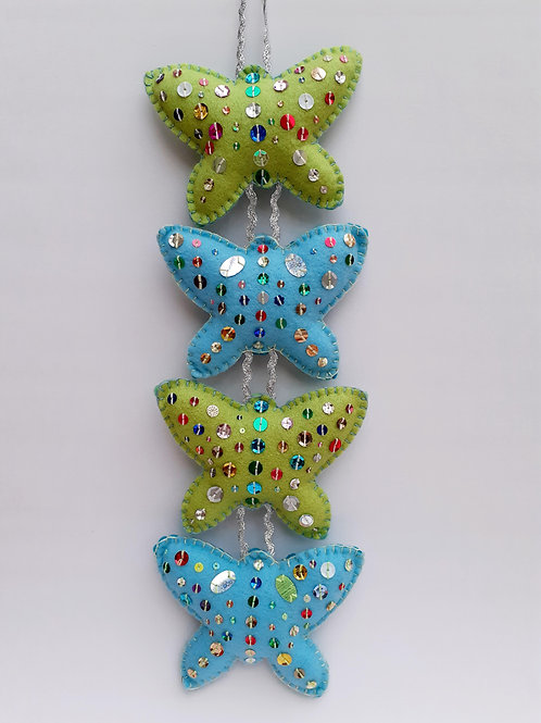 Blue Butterfly Decoration